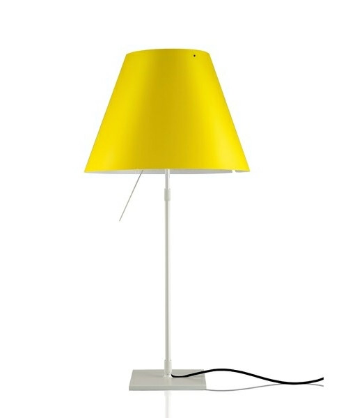 Costanza Bordlampe Alu/Smart Yellow - Luceplan