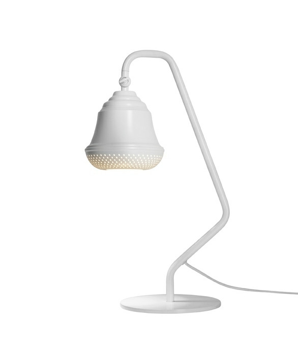 Bellis 160 Bordlampe Hvid - Design By Us