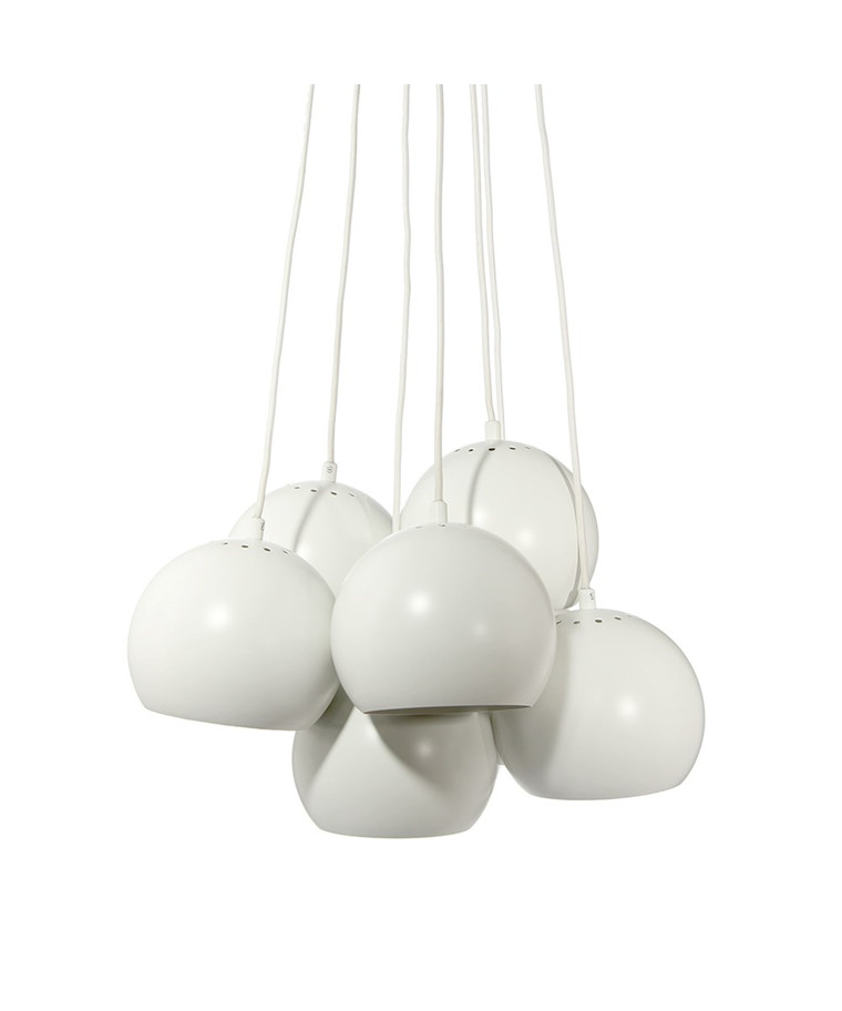 Ball Multi Pendel Mat Hvid - Frandsen