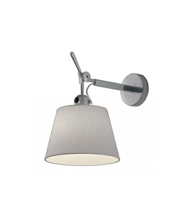 Tolomeo Parete Diffusore Væglampe Ø18 Grå Satin - Artemide
