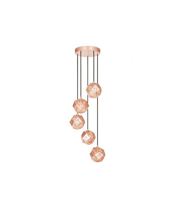 Etch Mini Chandelier Kobber - Tom Dixon