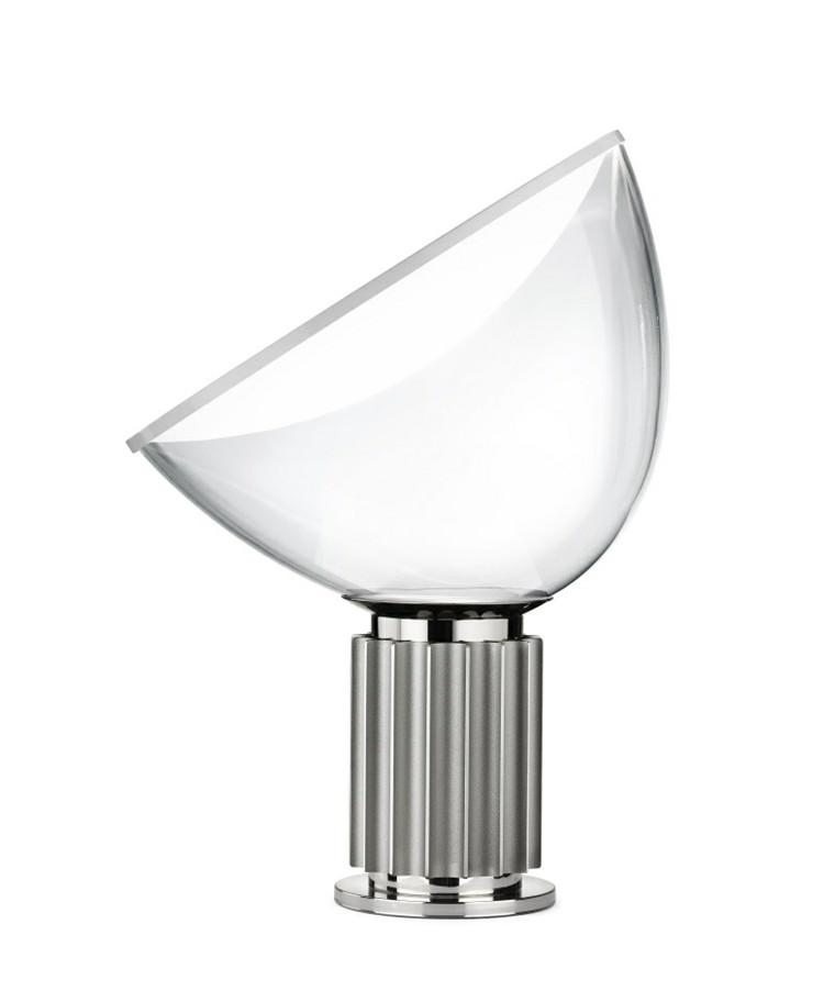 Taccia Glas Bordlampe Silver - Flos