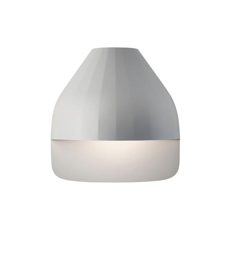 Facet Udendørs Væglampe m/Small Base Lys Grå - Le Klint