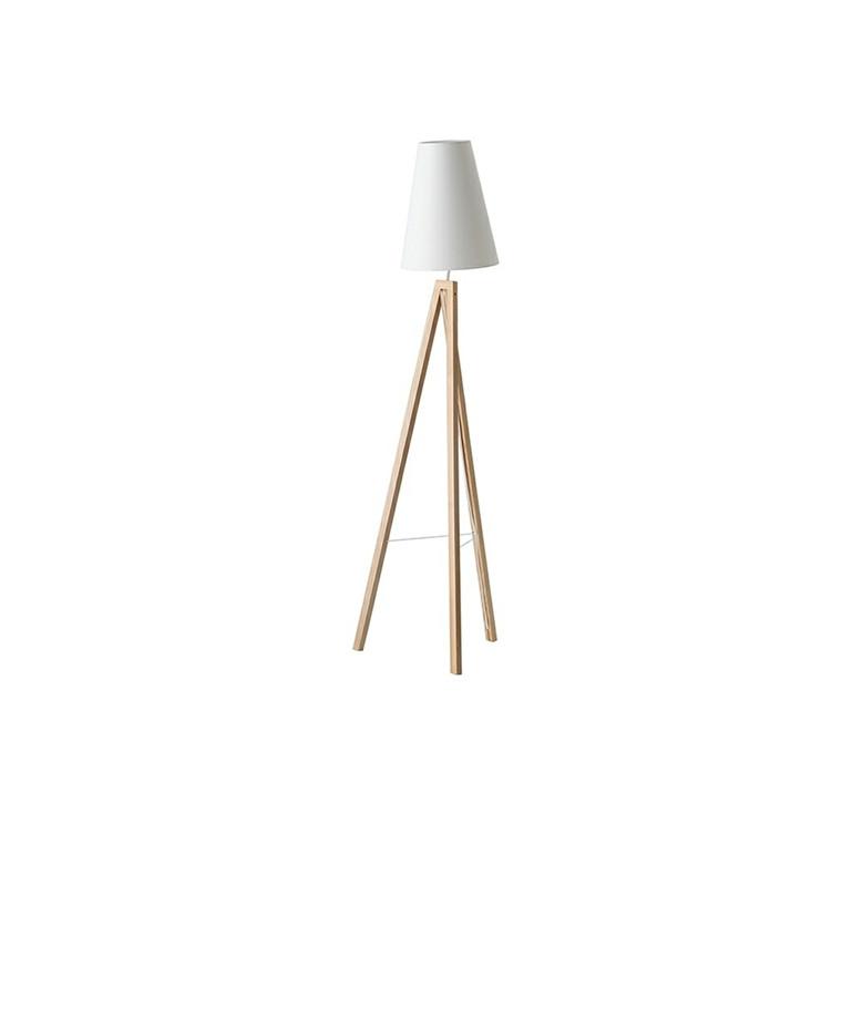 Splitt Gulvlampe Ask/Hvid - Frandsen