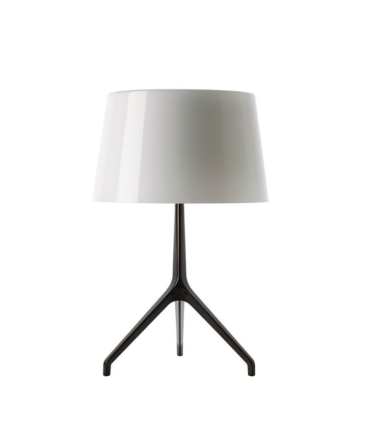 Lumiere XXL Bordlampe Sort Krom/Hvid - Fosccarini