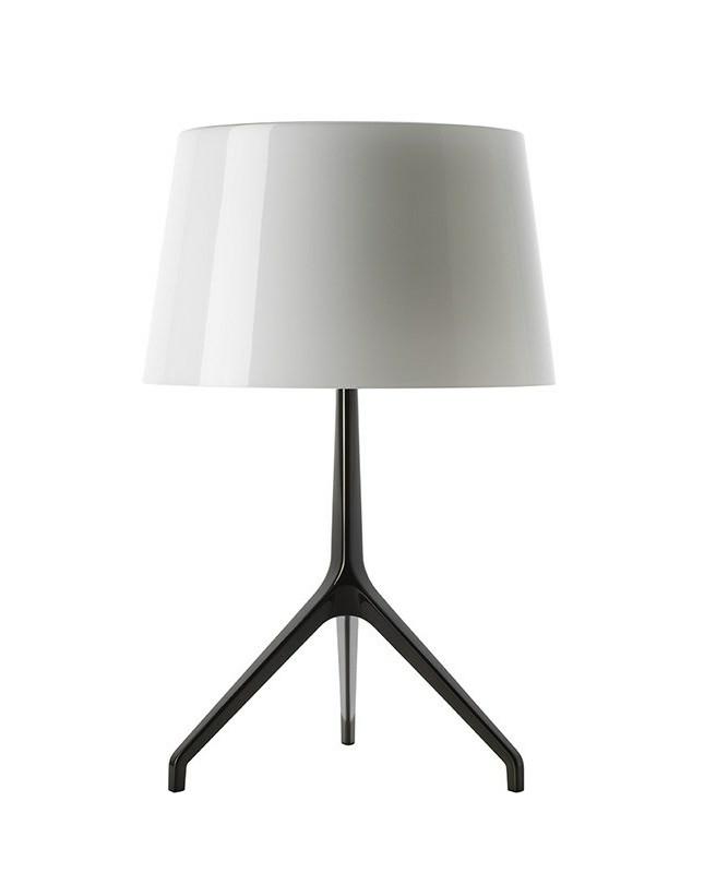 Lumiere XXS Bordlampe Sort Krom/Hvid - Fosccarini