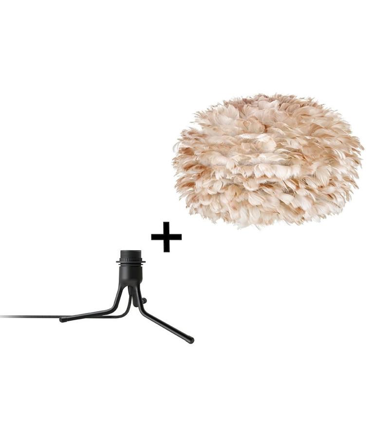 Eos Medium Bordlampe m/Mini Fod Brun/Sort - Vita
