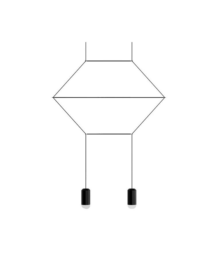 Wireflow Pendel 0320 - Vibia