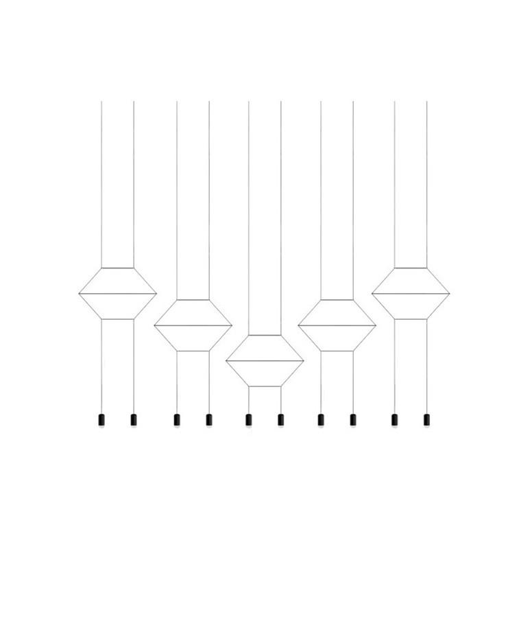 Wireflow Pendel 0332 - Vibia