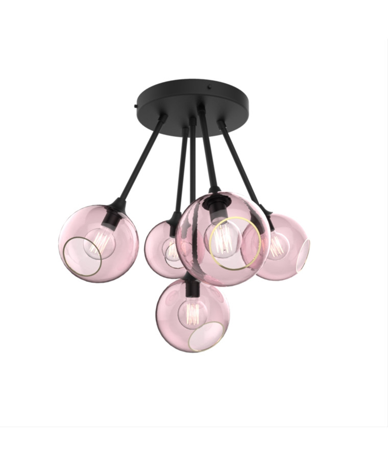 Ballroom Molecule Pendel Black/Rose - Design By Us
