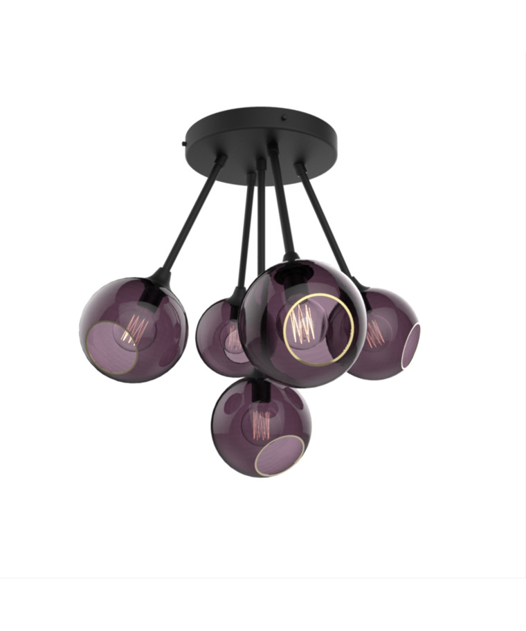 Ballroom Molecule Pendel Black/Purple - Design By Us
