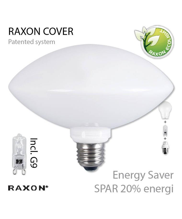 Pære Ellipse-Cover Ø160 48W E27 - Raxon
