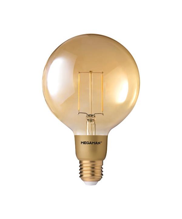 Pære LED 3W (210lm) Globe Ø125 E27 - Megaman