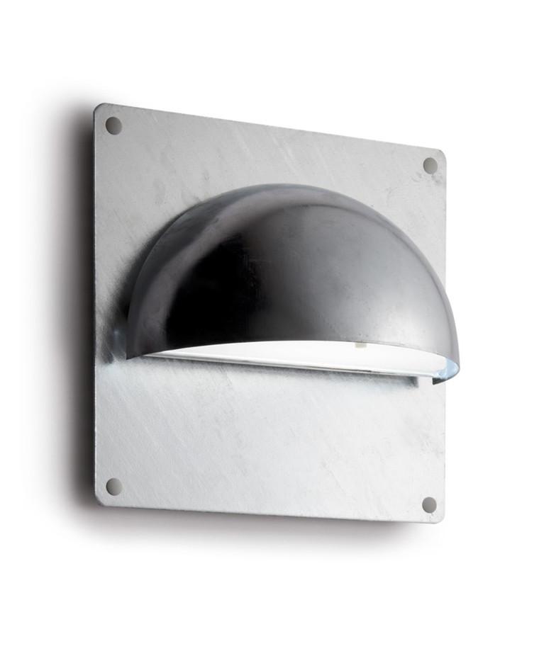 Rørhat Bagplade XL 30X30cm Galvaniseret - LIGHT-POINT