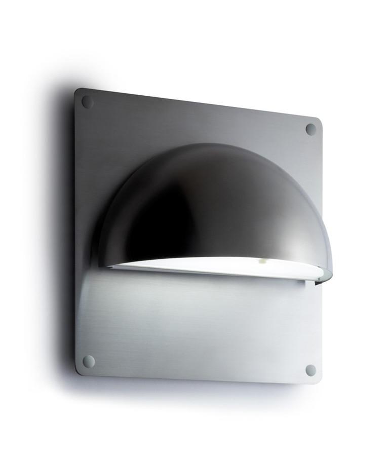Rørhat Bagplade XL 30X30cm Rustfrit stål - LIGHT-POINT