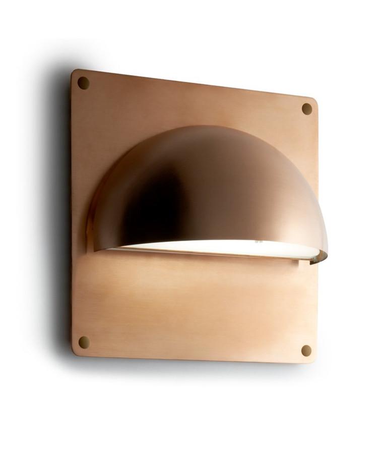 Rørhat Bagplade XL 30X30cm Rå Kobber - LIGHT-POINT