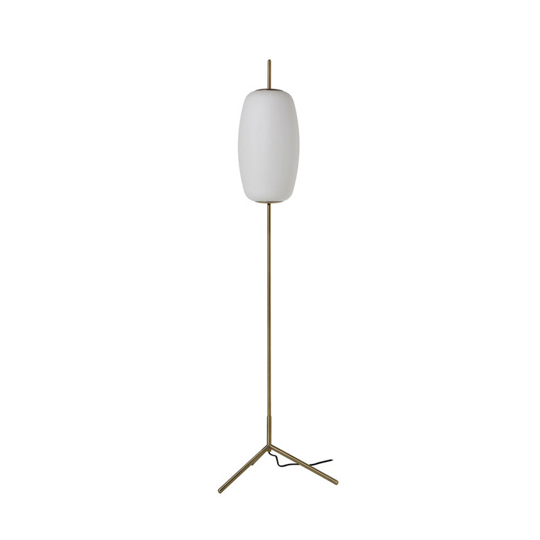 Silk Gulvlampe Opal Hvid/Mat Antik Messing - Frandsen