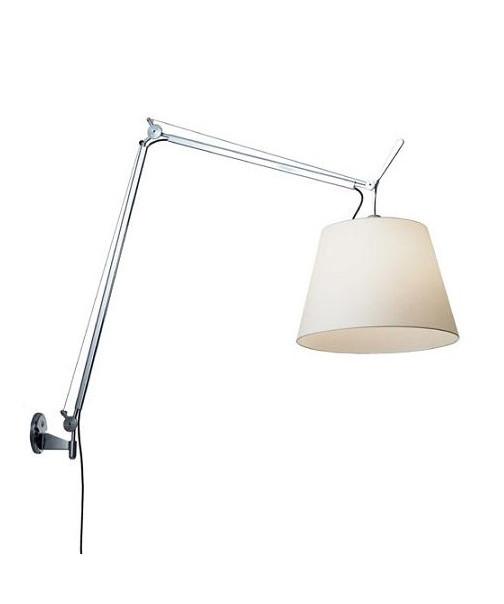 Tolomeo Mega Væglampe Alu/Hvid - Artemide