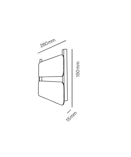 Rørhat Small Navneplade XS 2 Delt Blank Kobber - LIGHT-POINT