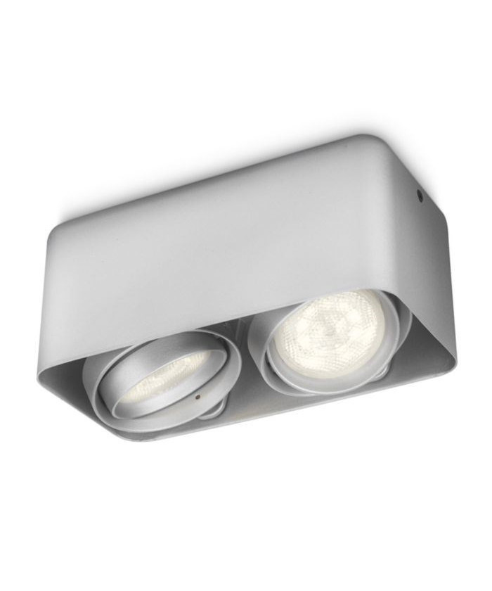Afzelia LED Loftspot Aluminium - Philips