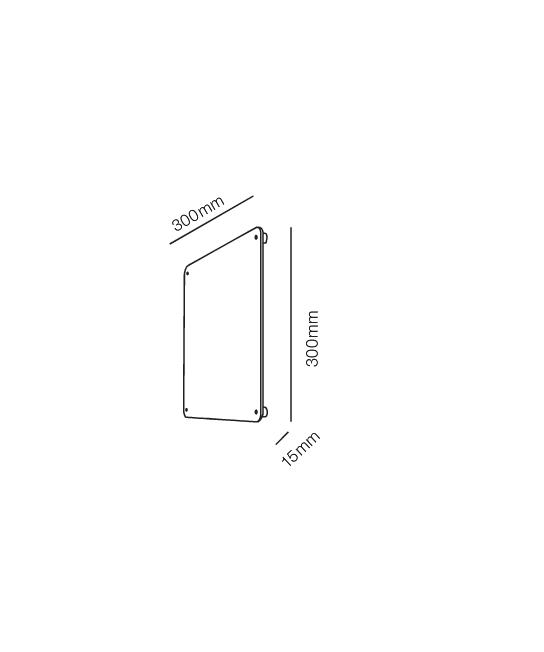 Rørhat Navneplade XL 30X30cm Rustfrit Stål - LIGHT-POINT