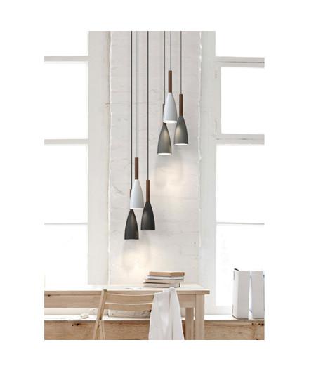 Pure Pendel Lampe Hvid/Valnød - Nordlux