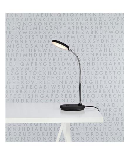 Flex Bordlampe Hvid/Chrome - Markslöjd
