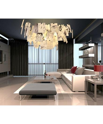 zettel 39 z lampe 6 taklampa 80cm ingo maurer. Black Bedroom Furniture Sets. Home Design Ideas