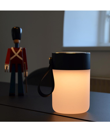 LED Sound Jar Black - Halo Design