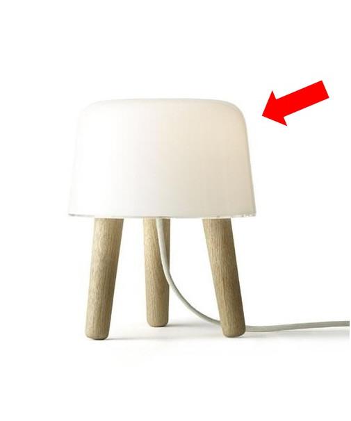 &tradition – Skærm til milk na1 bordlampe - &tradition fra lampemesteren.dk