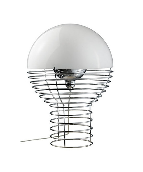 Image of   Wire Bordlampe Ø40 Hvid - Verner Panton