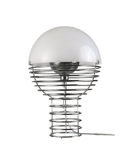 Image of   Wire Bordlampe Ø30 Hvid - Verner Panton