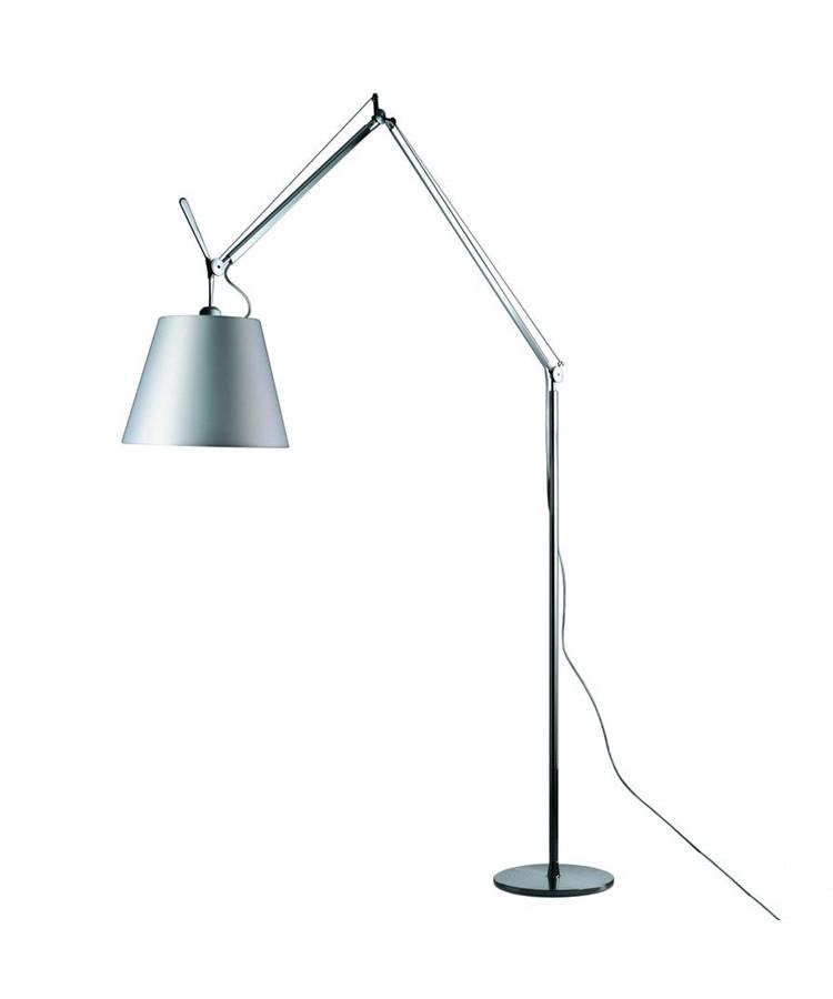 Tolomeo mega gulvlampe - grå satin - artemide fra Artemide på lampemesteren.dk
