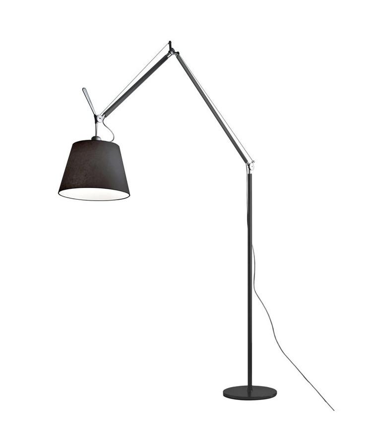 Artemide – Tolomeo mega gulvlampe sort satin - artemide på lampemesteren.dk