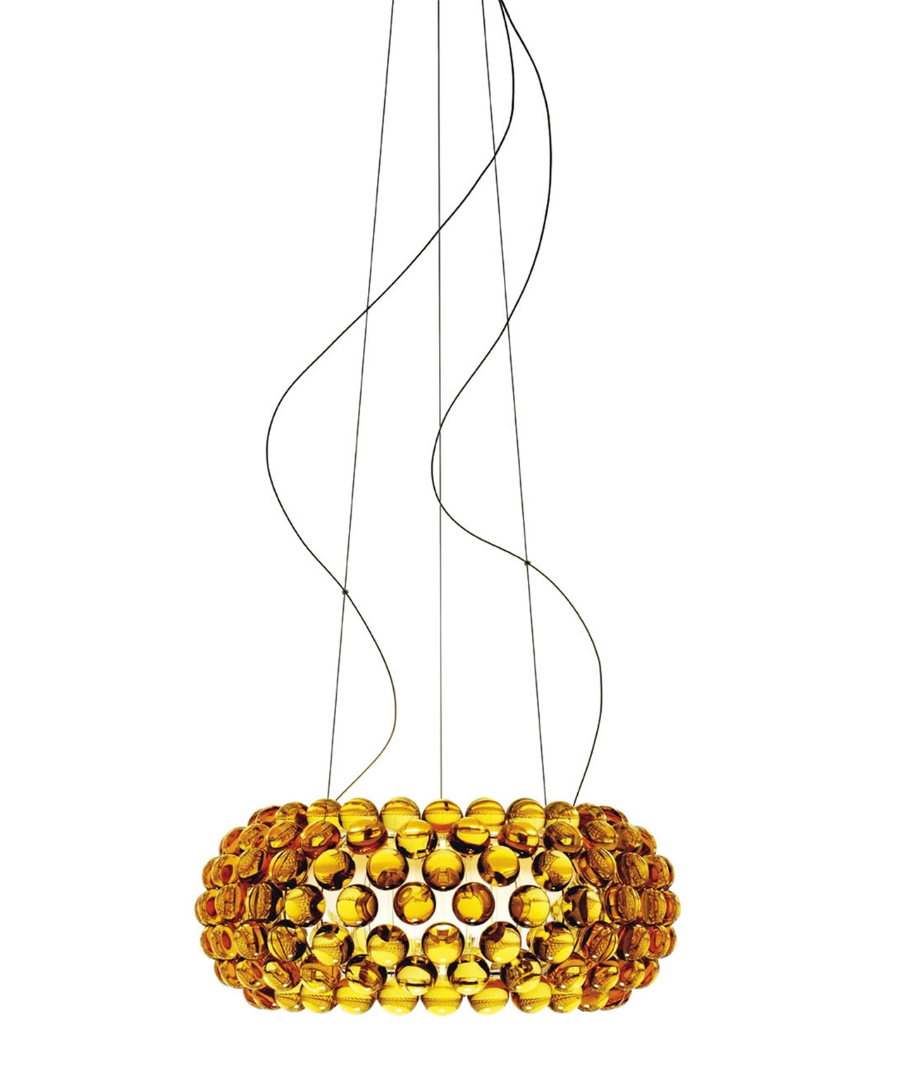 Image of   Caboche Pendel Gul Guld Medium - Foscarini