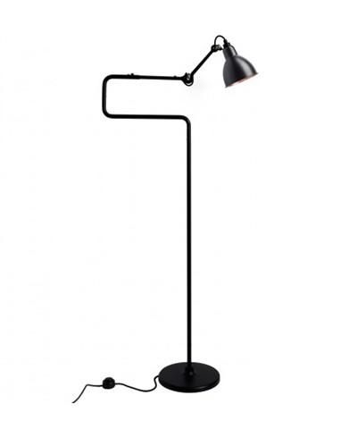 Image of   411 Gulvlampe Sort/Sort/Kobber - Lampe Gras