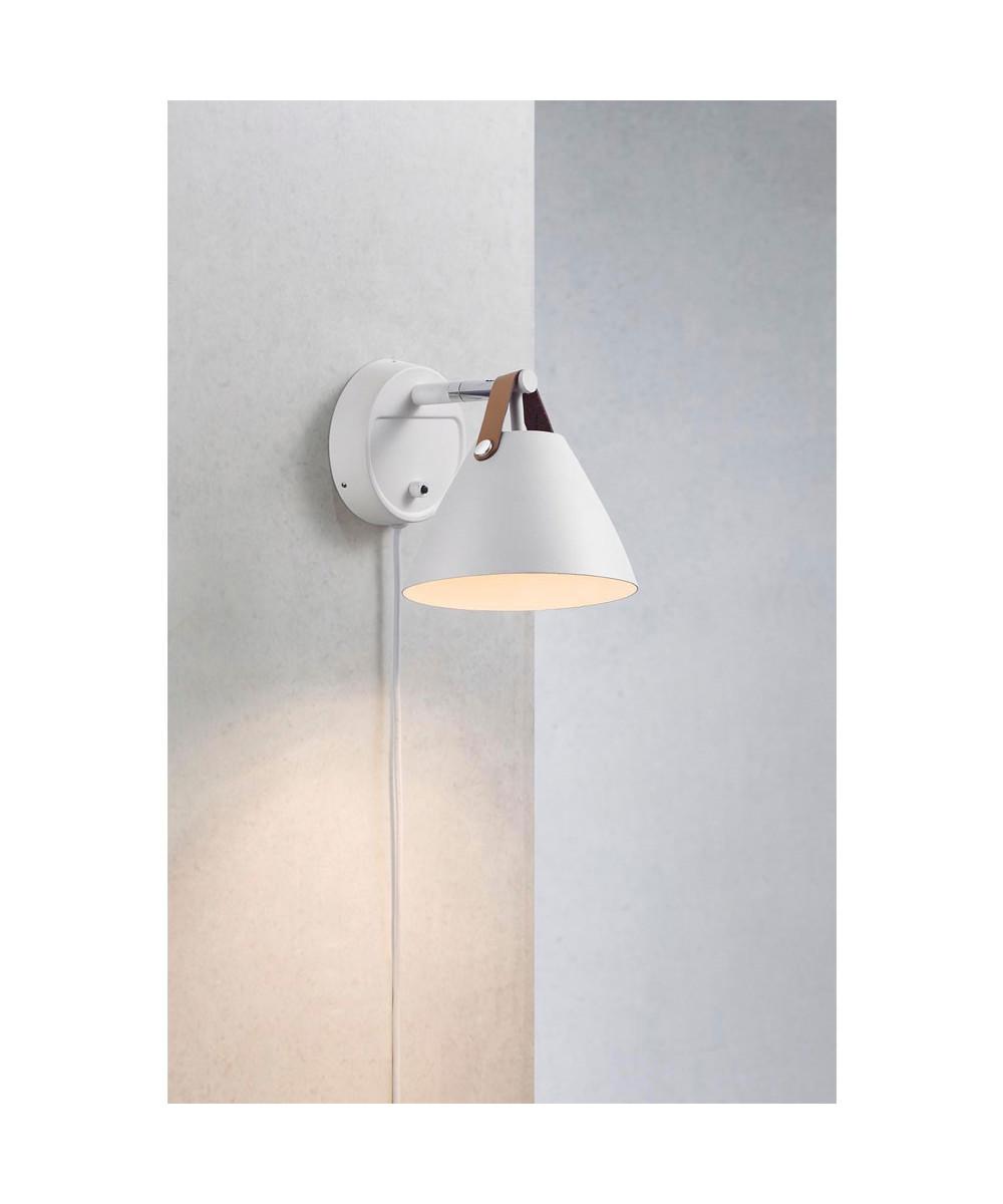 71f6db36722 15 Strap Hvid Væglampe Nordlux Lampekongen Y6g7ybf