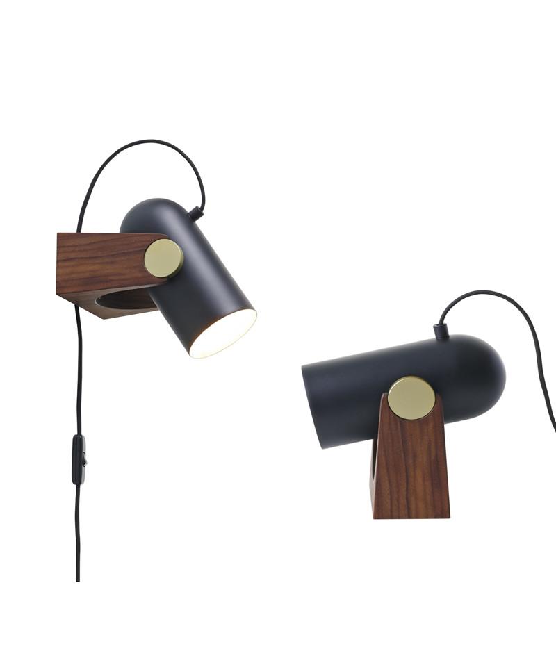 Le klint – Carronade bordlampe/væglampe sæt sort - le klint på lampemesteren.dk