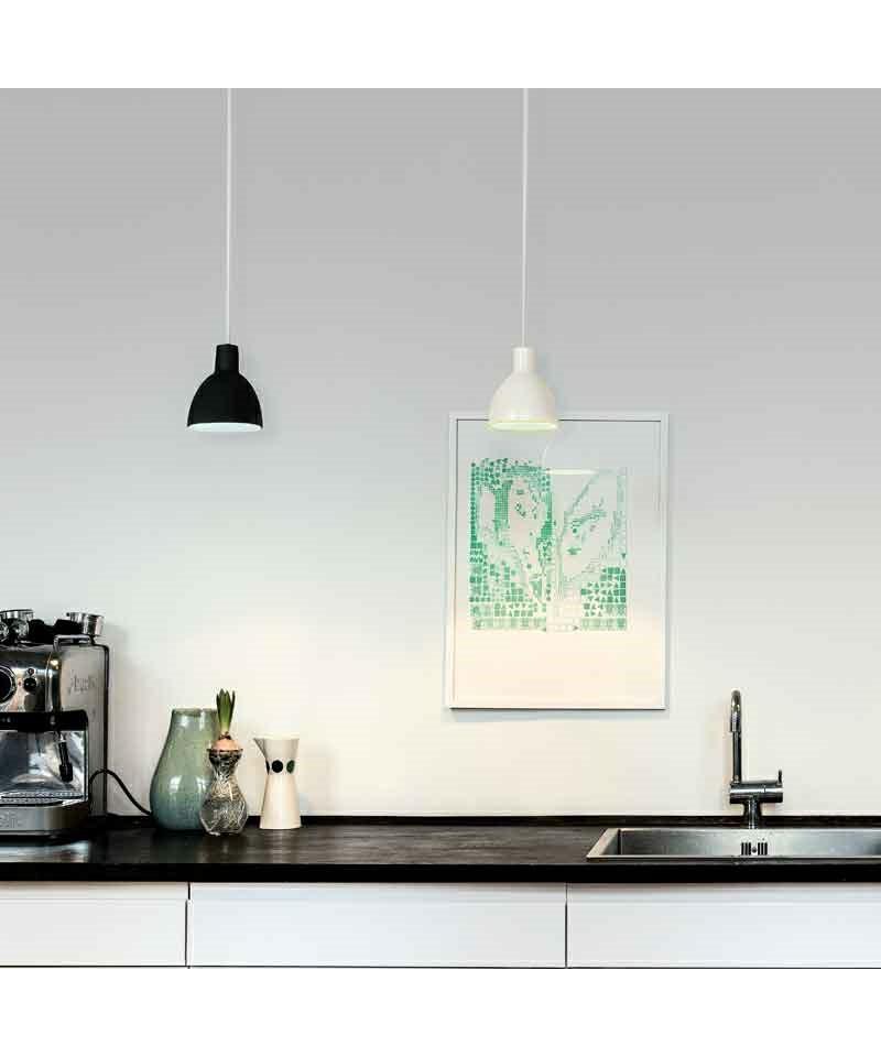 toldbod 120 pendel hvid gr n louis poulsen. Black Bedroom Furniture Sets. Home Design Ideas