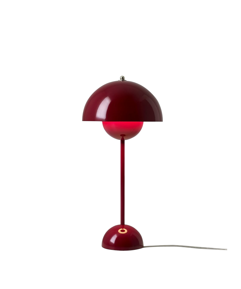 Flowerpot vp3 bordlampe deep red - &tradition fra &tradition på lampemesteren.dk