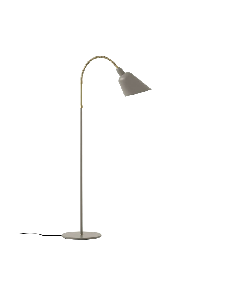 Image of   Bellevue Gulvlampe AJ7 Grå Beige & Messing - &tradition