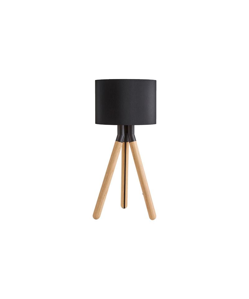 Image of   Paso Wood 25 T1 Bordlampe Eg/Sort/Sort - Darø