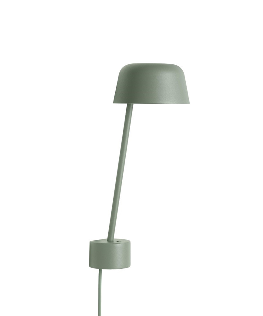 Image of   Lean Væglampe Dusty Green - Muuto