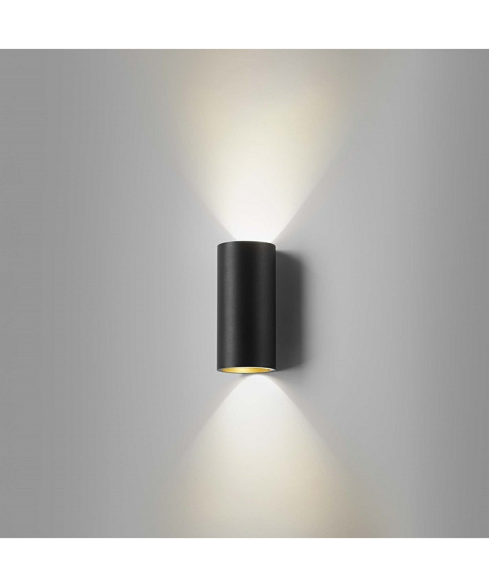 Image of   Zero W1 LED Væglampe Sort/Guld - LIGHT-POINT