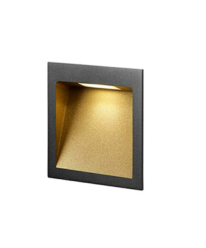 Image of   Deli 2 Væglampe Sort/Guld - LIGHT-POINT
