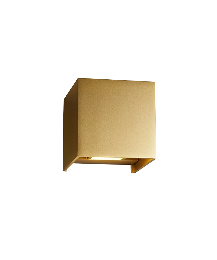 Image of   Box Up/Down Væglampe Guld - LIGHT-POINT