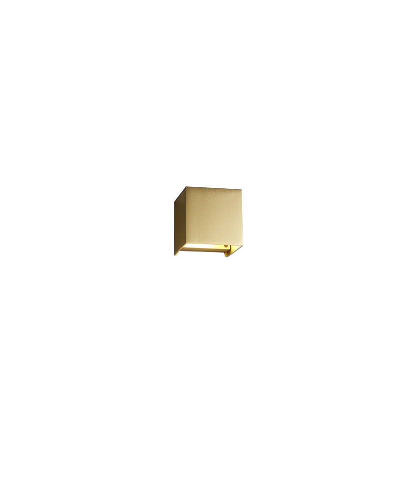 Image of   Box Mini Down Væglampe Guld - LIGHT-POINT