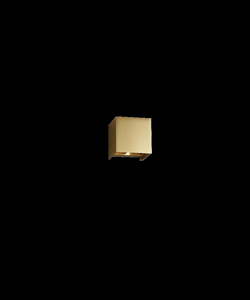 Image of   Box Mini Up/Down Væglampe Guld - LIGHT-POINT