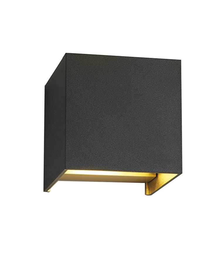 Image of   Box XL Væglampe Sort/Guld - LIGHT-POINT