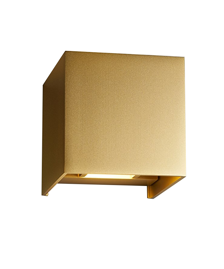 Image of   Box XL Væglampe Guld - LIGHT-POINT